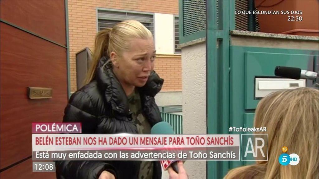 """Belén Esteban, a Toño: """"Las medidas cautelares las dan cuando ven indicios"""""""