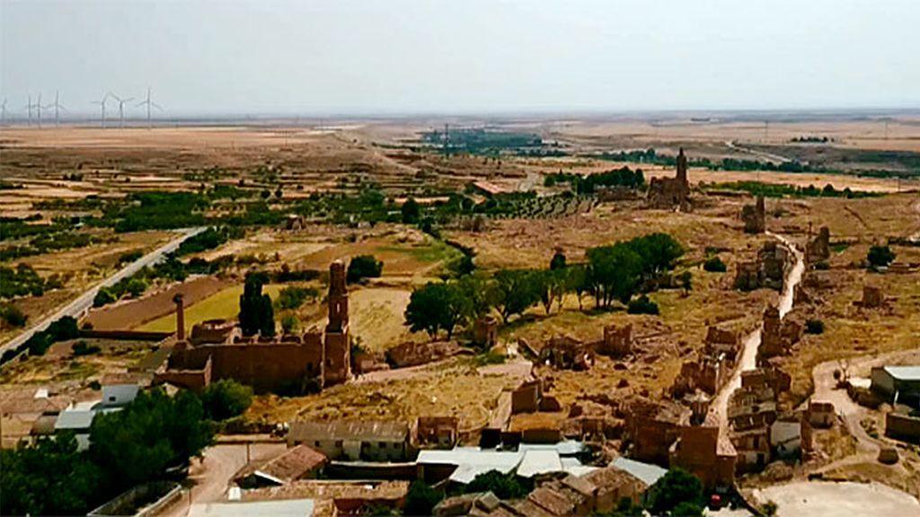 Belchite visto desde el aire, en el inicio de la nueva temporada de Cuarto Milenio