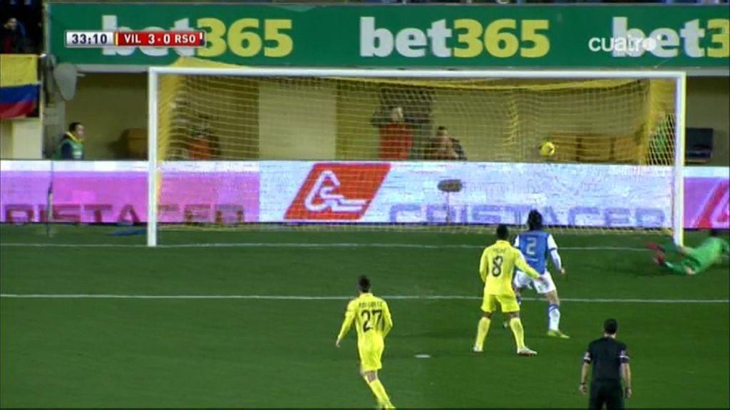 Gol de Giovani (Villarreal 3-0 Real Sociedad)