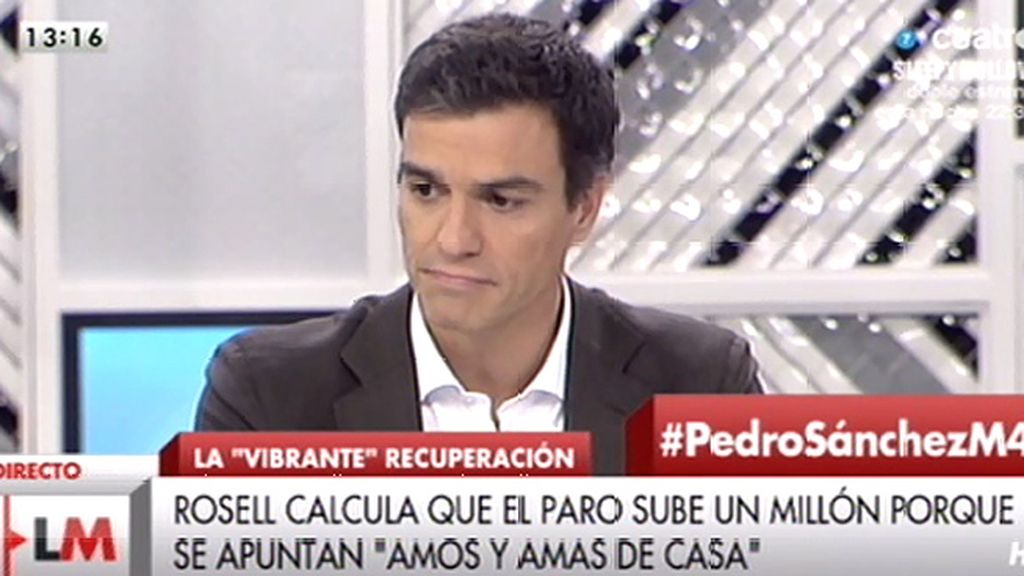 """Pedro Sánchez: """"En primer lugar, lo que hay que hacer es derogar la reforma laboral"""""""