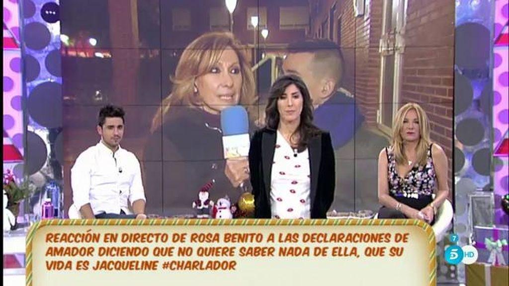 """Rosa Benito a A. Mohedano: """"Vive cariño, que yo estoy feliz y eso fastidia mucho"""""""