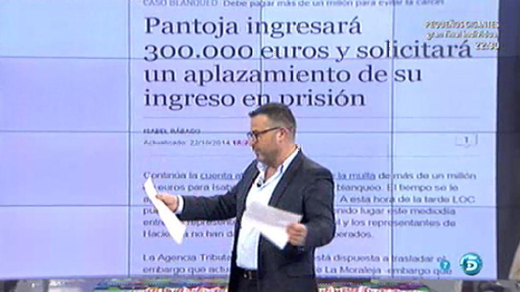 """I. Rábago: """"Pantoja ingresará 300.000€ y solicitará un aplazamiento"""""""