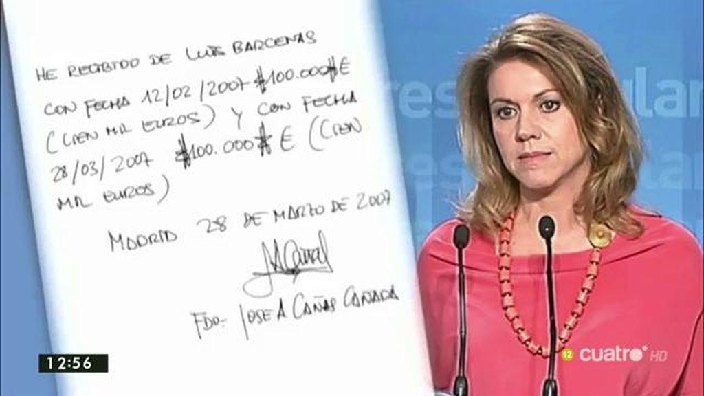 Cospedal, investigada por una presunta 'mordida' de 200.000 euros
