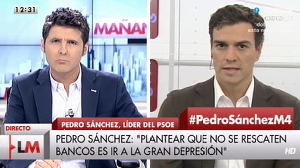 """Pedro Sánchez cree que no pagar la deuda """"nos llevaría a una gran depresión"""""""