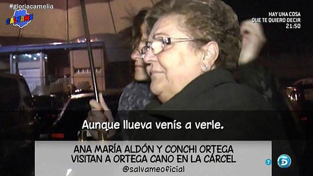 Conchi Ortega y Ana María Aldón visitan a José Ortega cano en la cárcel