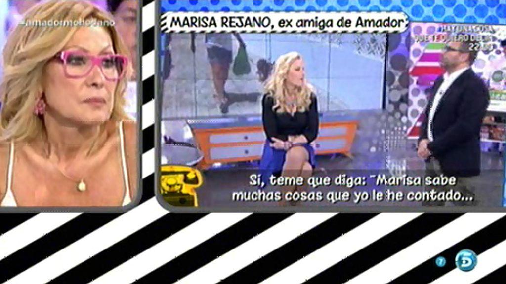 """Marisa Rejano: """"Amador, vive y deja vivir, que Marisa no ha contado de la misa la mitad"""""""
