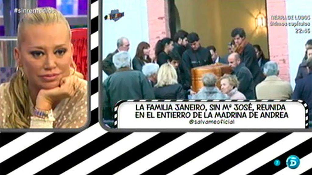 La familia Janeiro, juntos en el entierro de la madrina de Andrea