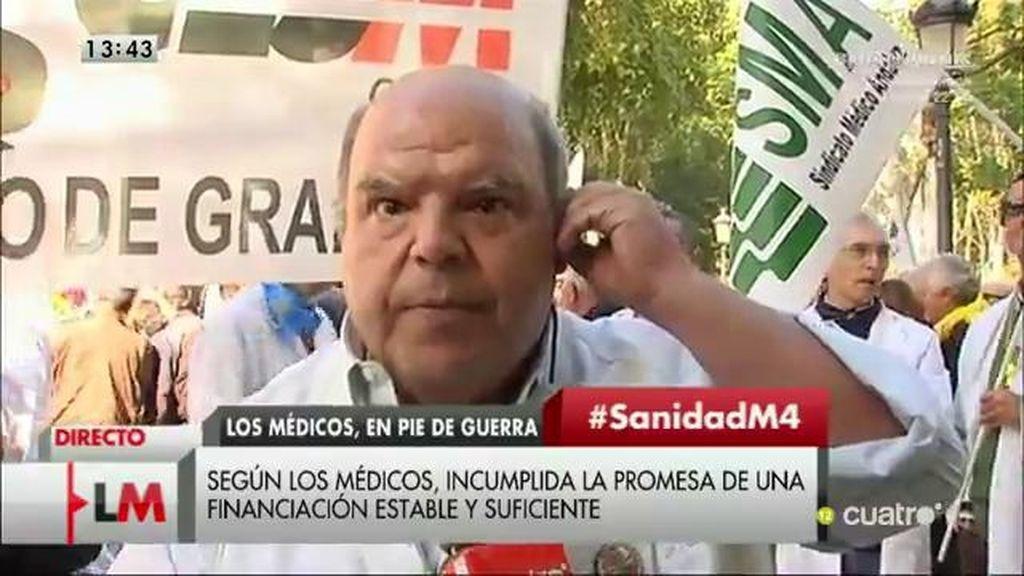 """Francisco Cantalejo: """"Pretenden que dejemos de atender con nuestro criterio para ponernos al servicio de los políticos"""""""