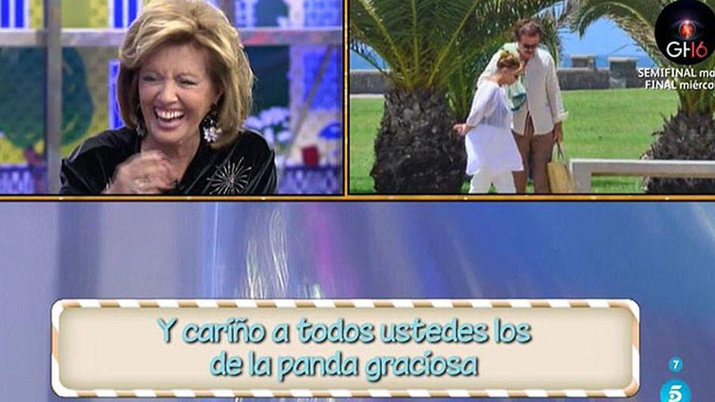 Edmundo Arrocet gasta una broma a María Teresa Campos