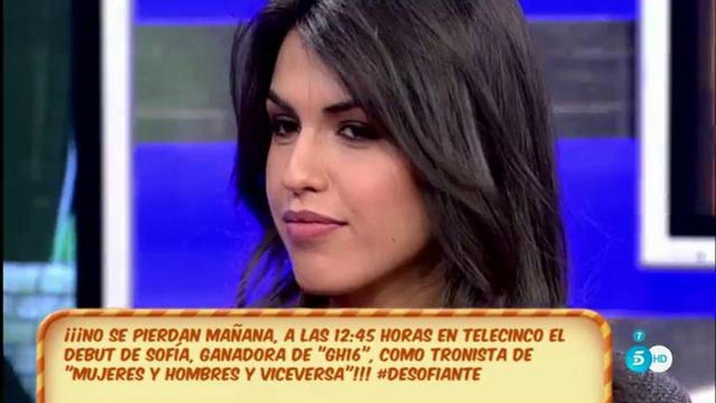 """Sofía: """"No quiero Susos en mi vida"""""""