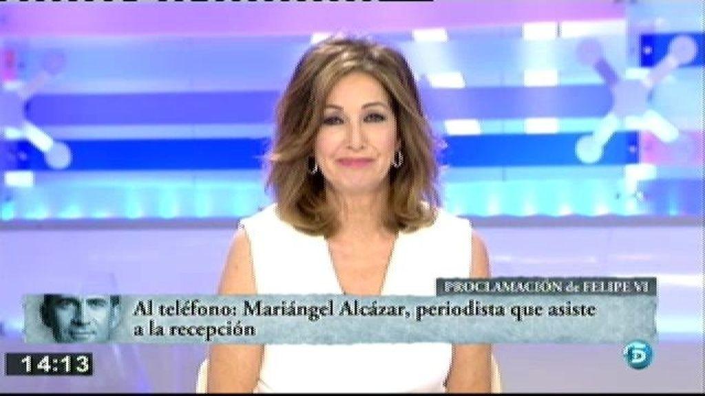 Según Mariangel Alcázar el Rey ha escuchado el discurso junto a su hija Cristina