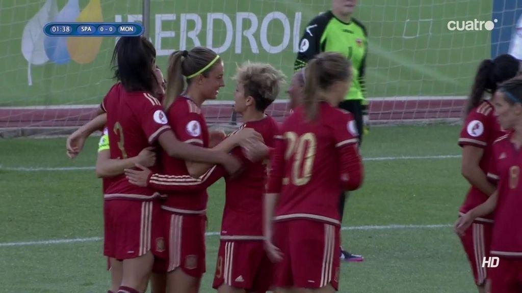 ¡Gol de la capitana! Vero Boquete hace el primero para España