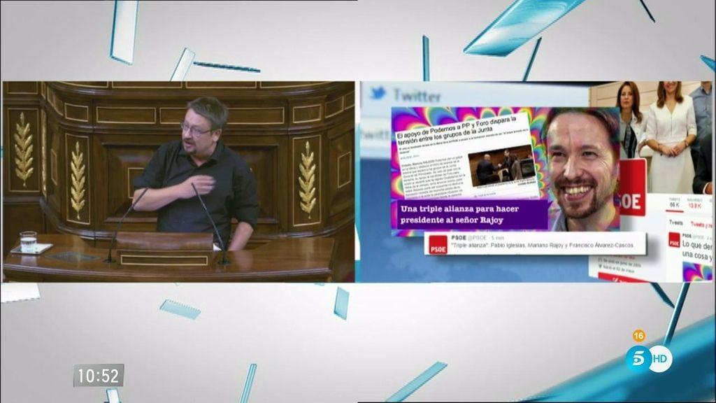 EL PSOE responde en Twitter a Iglesias
