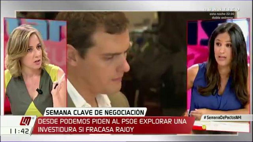 "Begoña Villacís, a Tania Sánchez: ""Proponéis aumentar el déficit de forma insostenible"""