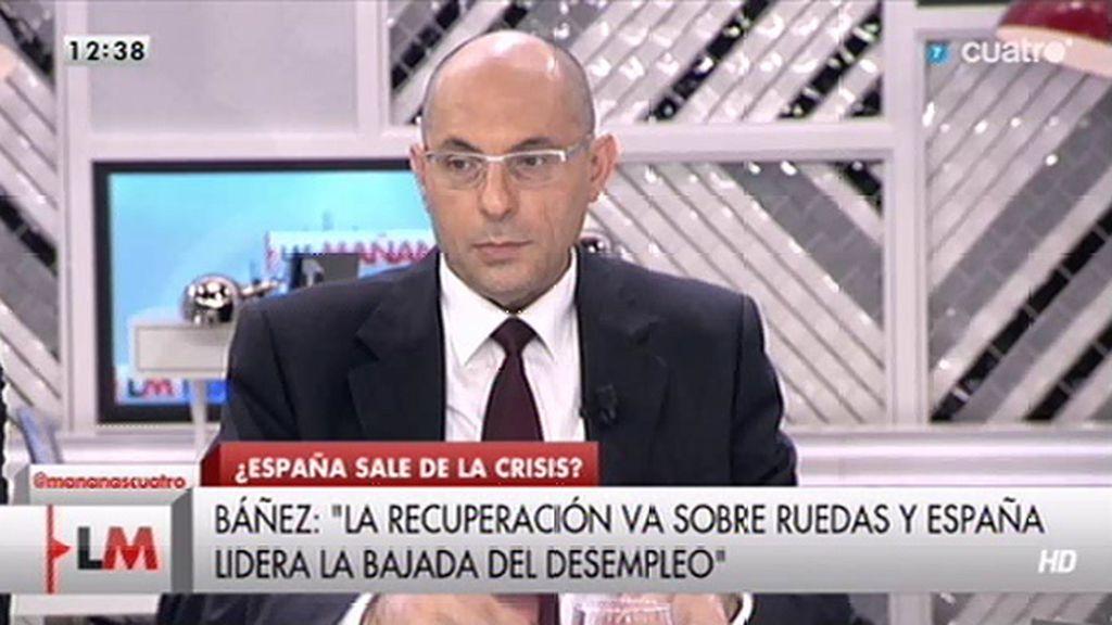 """Elpidio Silva: """"No sé sobre qué tipo de ruedas dice la ministra que va la recuperación"""""""