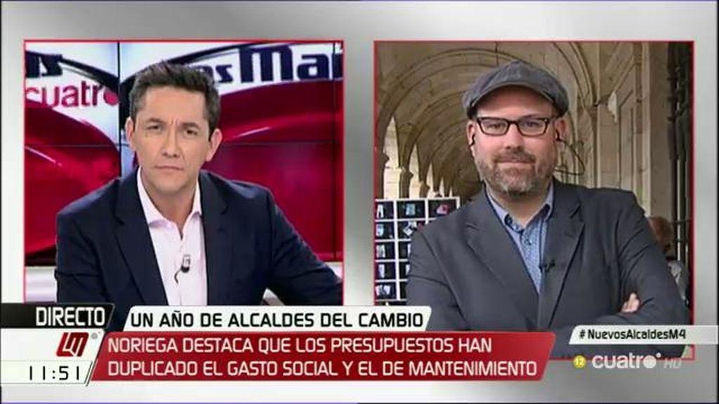 """Martiño Noriega: """"Creo que hay una campaña contra la posibilidad de que exista un cambio a nivel de Estado"""""""