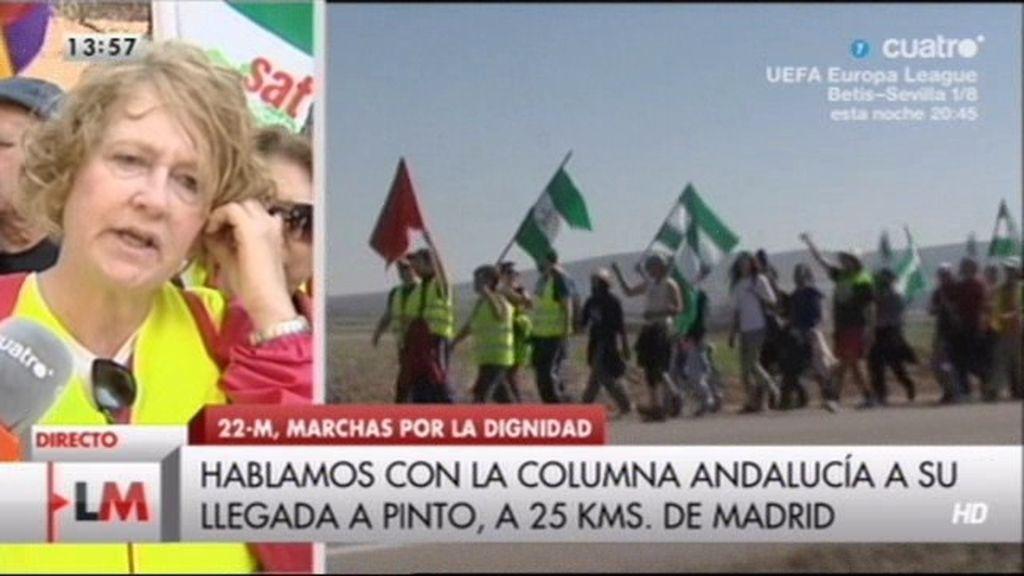 """La marcha de la dignidad andaluza: """"Cuanto más nos aprieten el cuello, más lucharemos"""""""