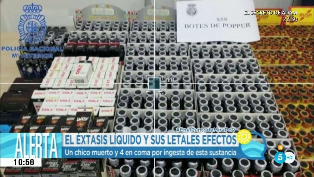El éxtasis líquido, una droga letal y un potente producto de limpieza
