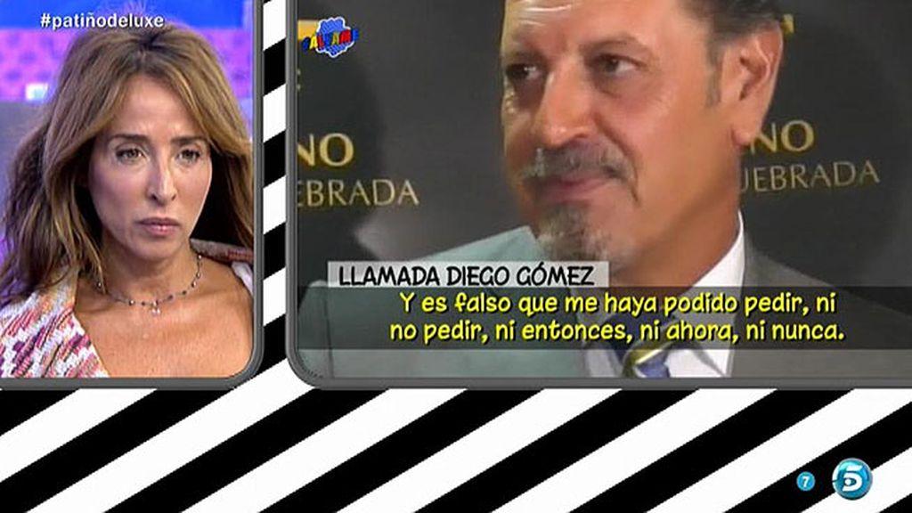 """Diego Gómez: """"Es falso que Isabel Pantoja me haya pedido dinero, ni ahora ni nunca"""""""
