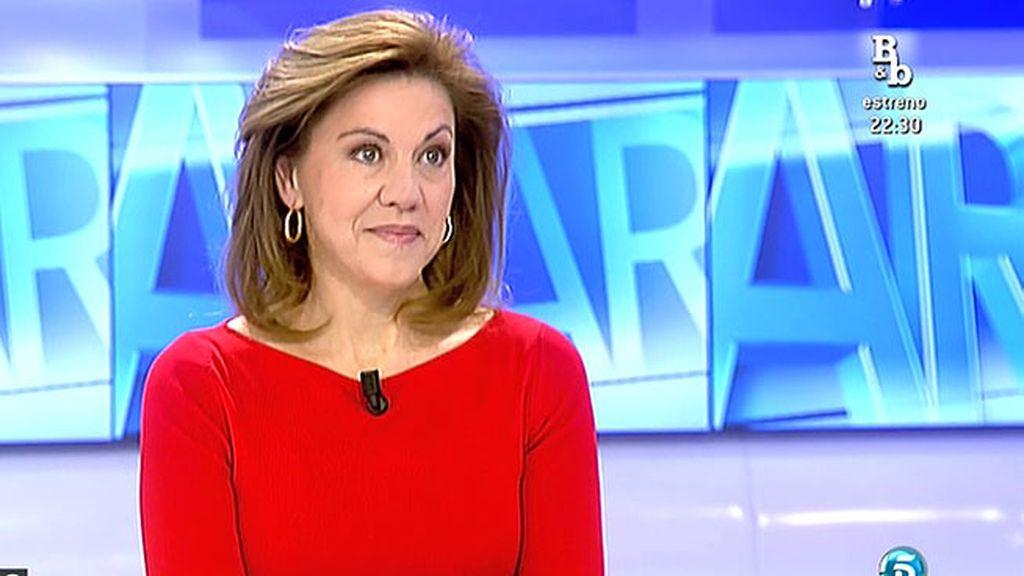 """Cospedal: """"No hay desencuentro con Mariano Rajoy porque es el presidente de mi partido"""""""