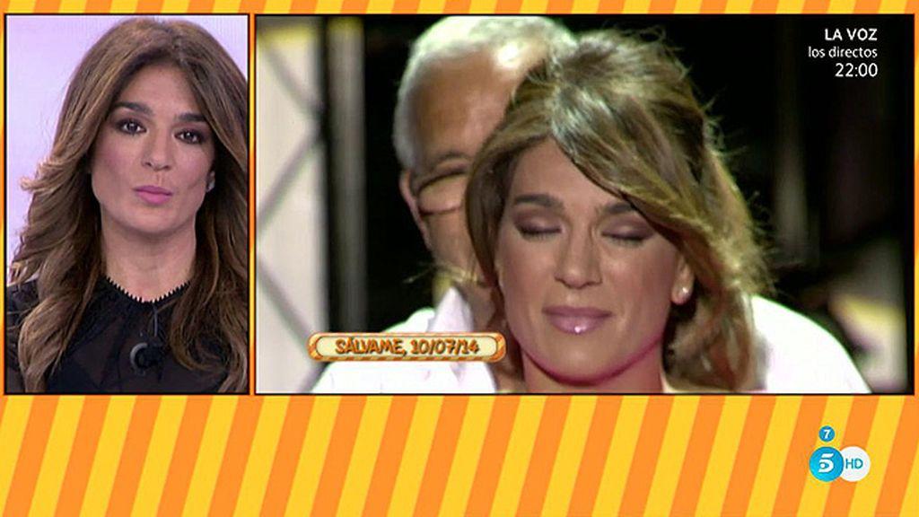 El momento más emotivo de Raquel Bollo en 'Sálvame': Cuando volvió a su columpio