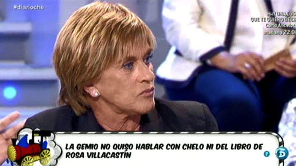 "A Chelo le parece ""tonta"" la actitud de Isabel Gemio, que se negó a responderle"