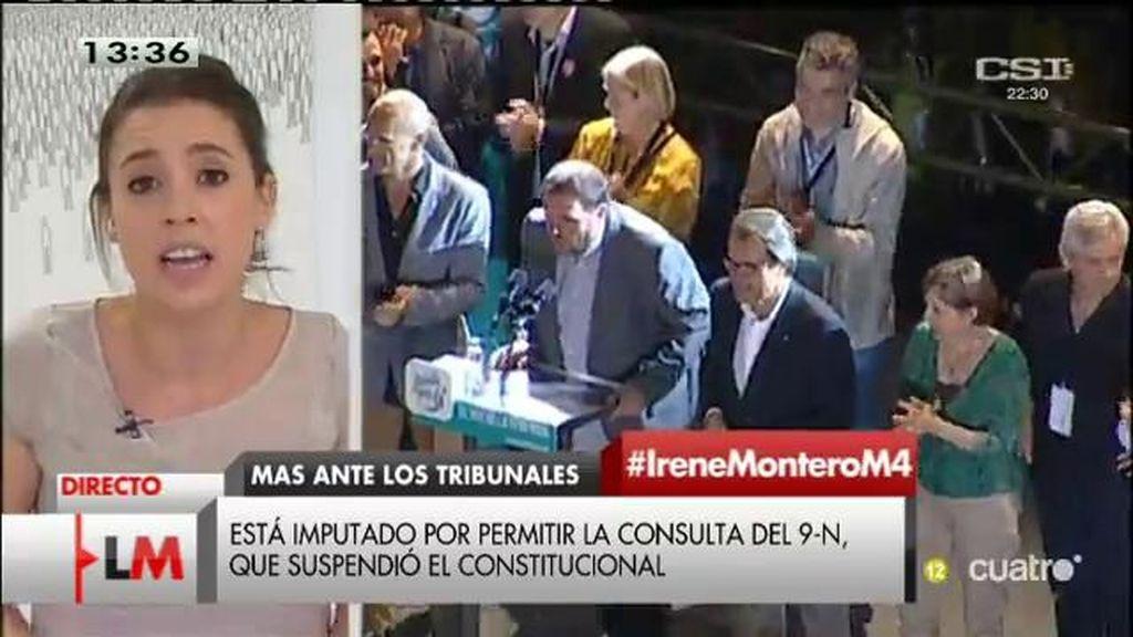 """I. Montero: """"Mas no debería ser imputado por intentar que la ciudadanía decida su futuro"""""""