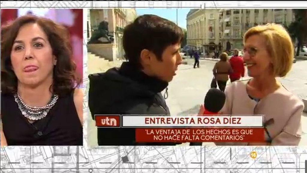 """Rosa Díez, de Irene Lozano: """"Es triste que el PSOE fomente el transfuguismo"""""""