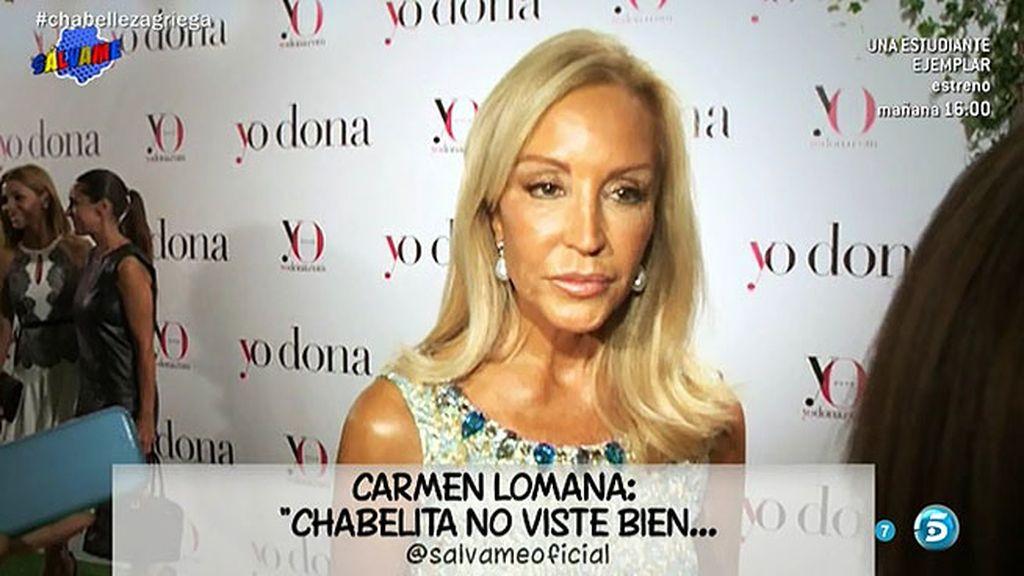 """Carmen Lomana cree que el debut televisivo de Chabelita """"es una pantomima"""""""