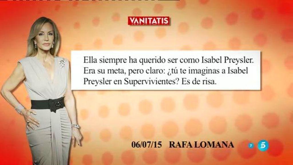 """Rafa Lomana, de Carmen:""""Ha estado con hombres muy importantes de este país"""""""