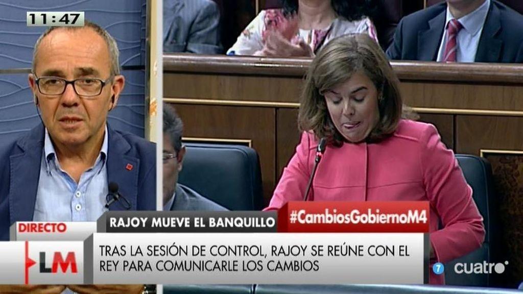 """Coscubiela, sobre Rajoy: """"A estas alturas, presentarse con cara amable no cuela"""""""