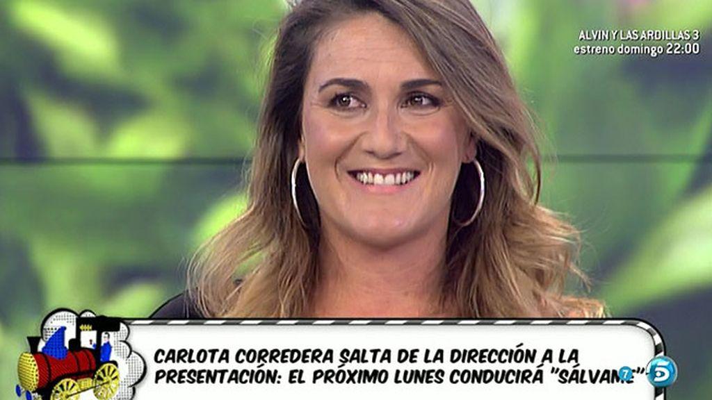 ¡Carlota Corredera será la presentadora de 'Sálvame' el próximo lunes!