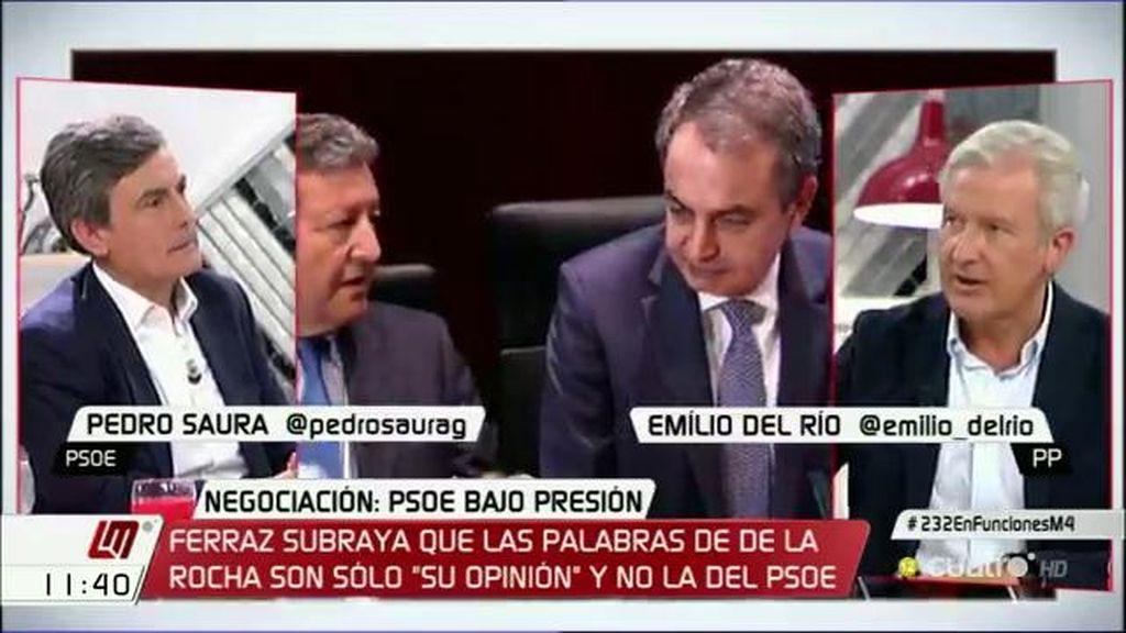 """Emilio del Río (PP): """"Es el momento de que el PSOE abandone los viejos vetos y los 'noes"""""""
