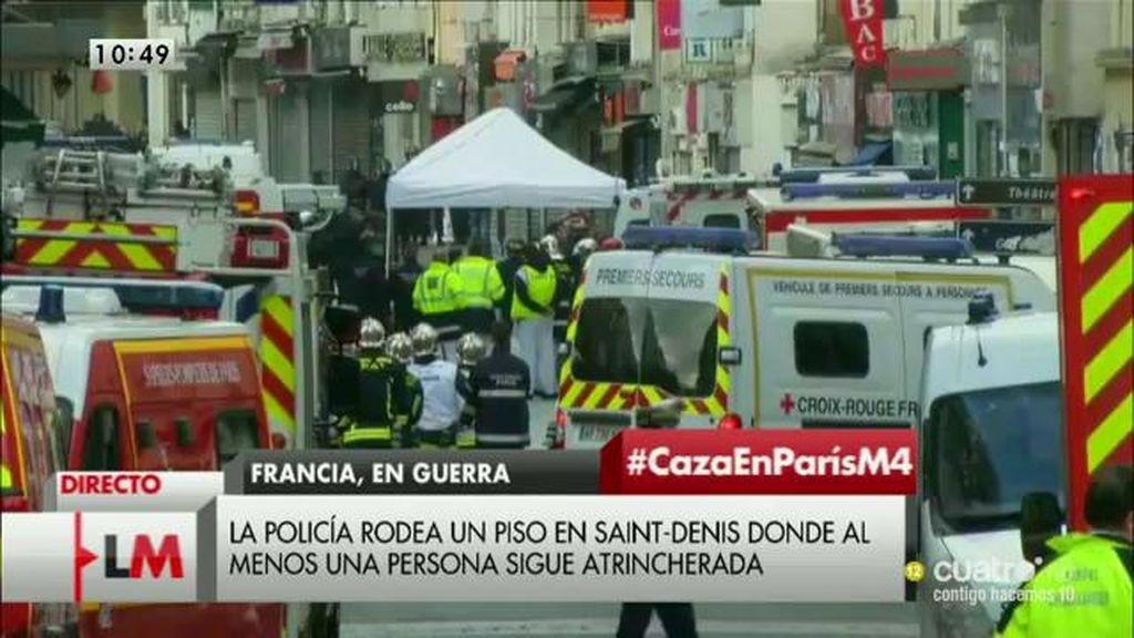 La policía rodea un piso en Saint-Denis donde al menos una persona sigue atrincherada
