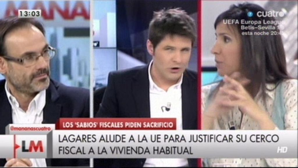 """Jesús Cintora, a Carmen Morodo: """"No me hagas el juego del trilero con los impuestos"""""""