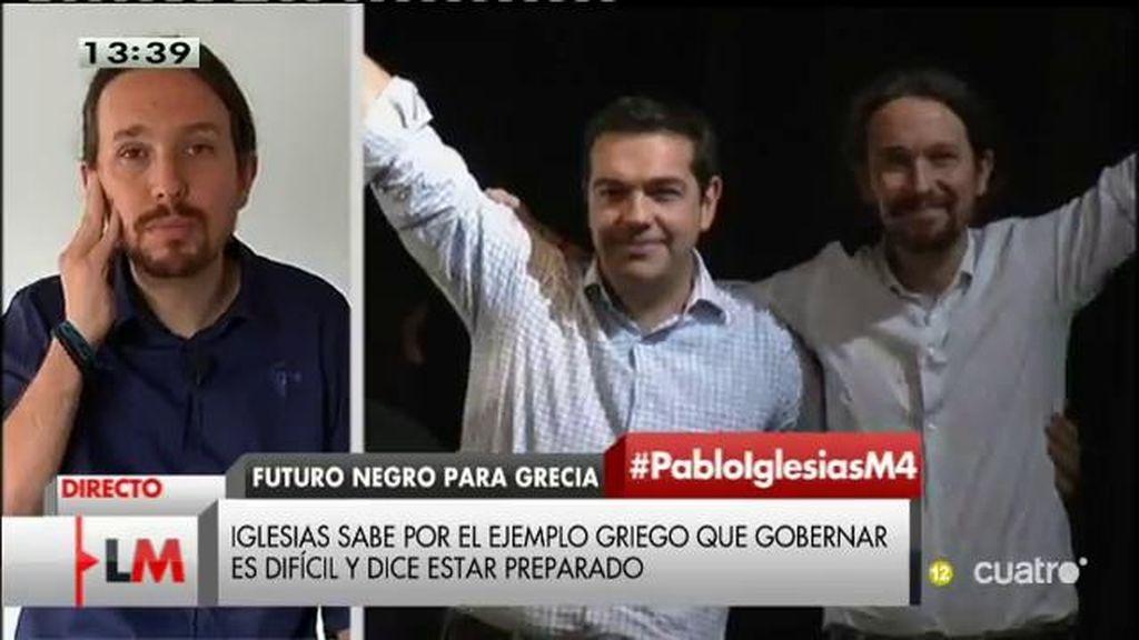 """P. Iglesias, sobre Grecia: """"Frente al a irresponsabilidad el gobierno alemán defendemos el sentido común"""""""