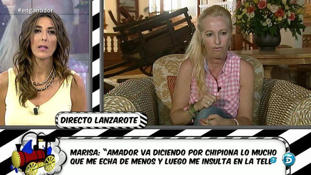 """Marisa: """"Rosa también me quiso llamar cuando se enteró de mi relación con Amador"""""""