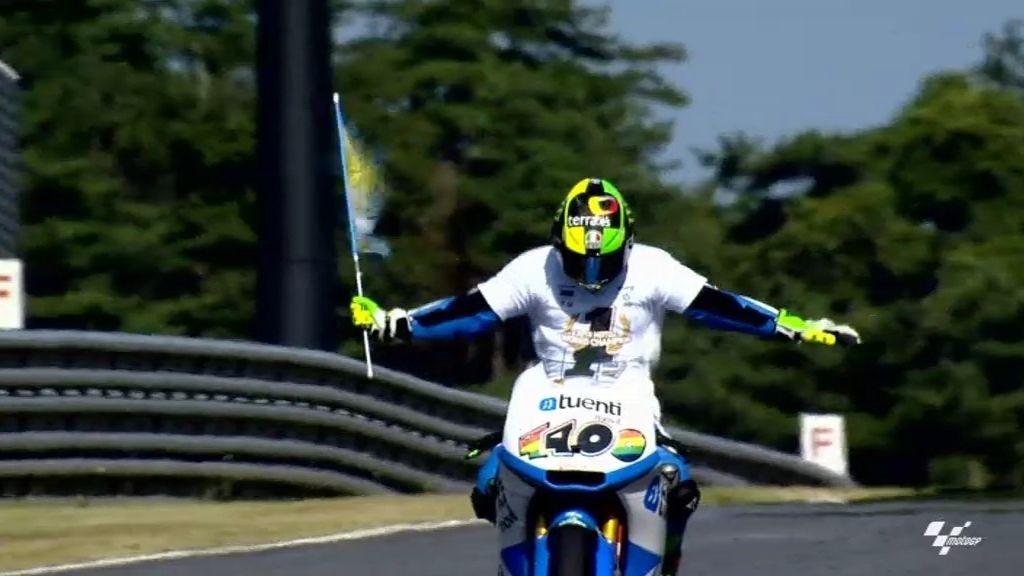 Pol Espargaró, campeón del Mundo en Moto2 en Motegi