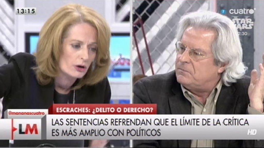 """A. Gutiérrez: """"Don Javier Nart, a sus pies, hable el monólogo que quiera, me callo"""""""