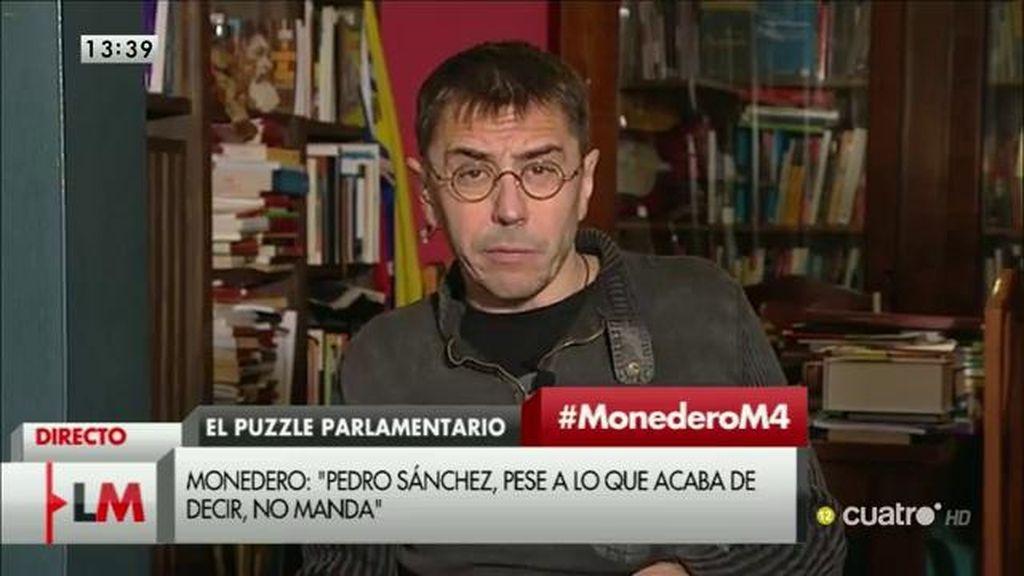 La entrevista a Monedero, a la carta