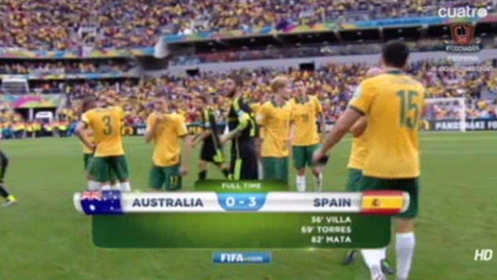 España se marcha del Mundial con una goleada ante Australia (0-3)