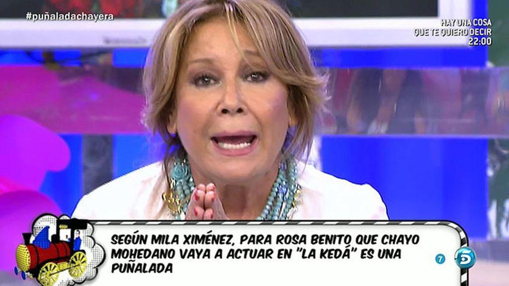 """Mila manda un mensaje a Chayo Mohedano: """"No nos des mimbre para hacer cestos"""""""