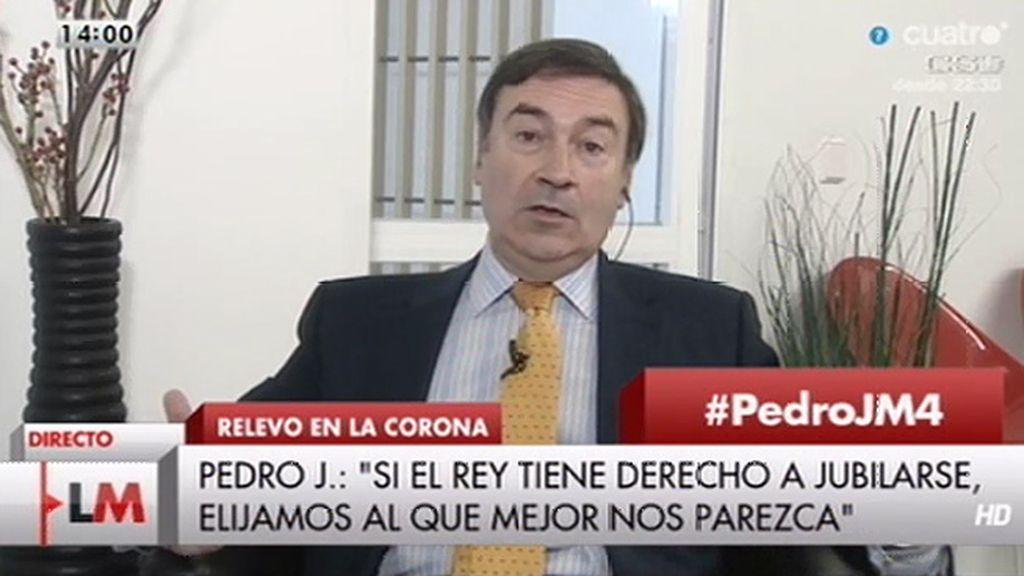 """Pedro J., sobre la ley Abdicación: """"Más que una ley parece un tuit por su brevedad"""""""