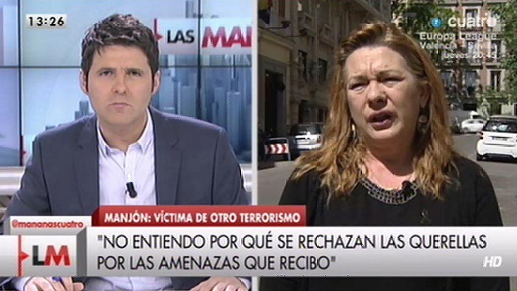 Pilar Manjón pide que se tomen medidas contra quienes la amenazan