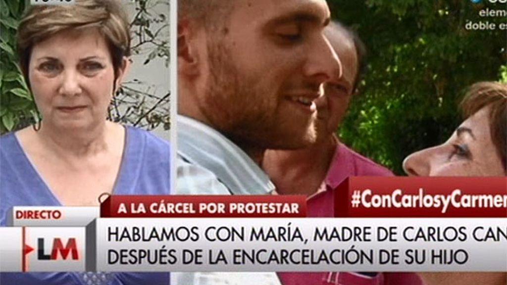 """María: """"Este no es el país por el que el padre de Carlos y yo luchamos"""""""