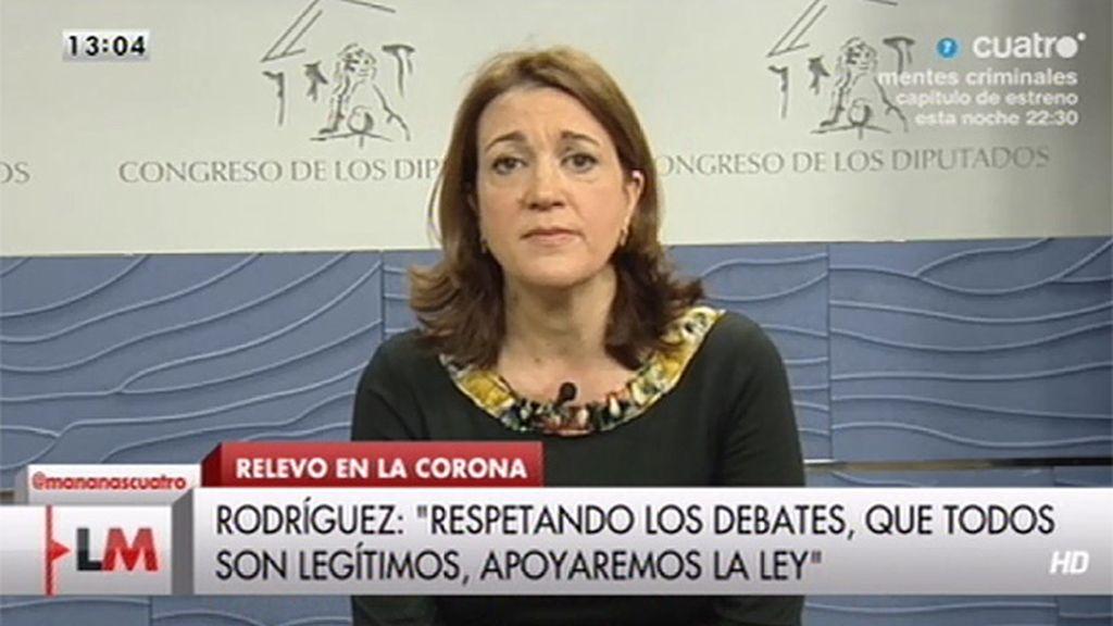 """Soraya Rodríguez: """"Lo que hay que hacer ahora es cumplir la Constitución"""""""