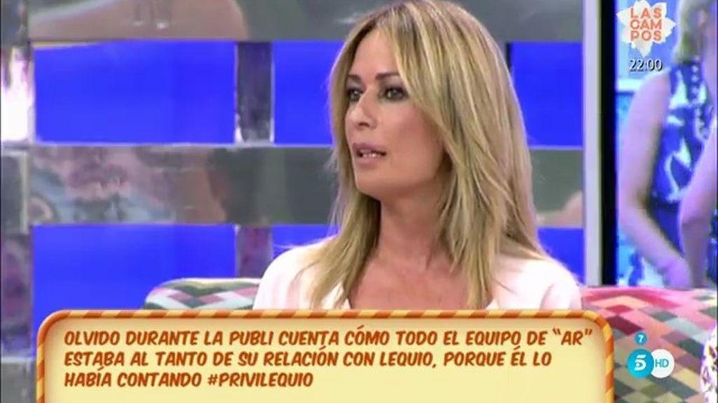 """Olvido Hormigos: """"María Palacios va de tonta y hace como que no sabe nada"""""""