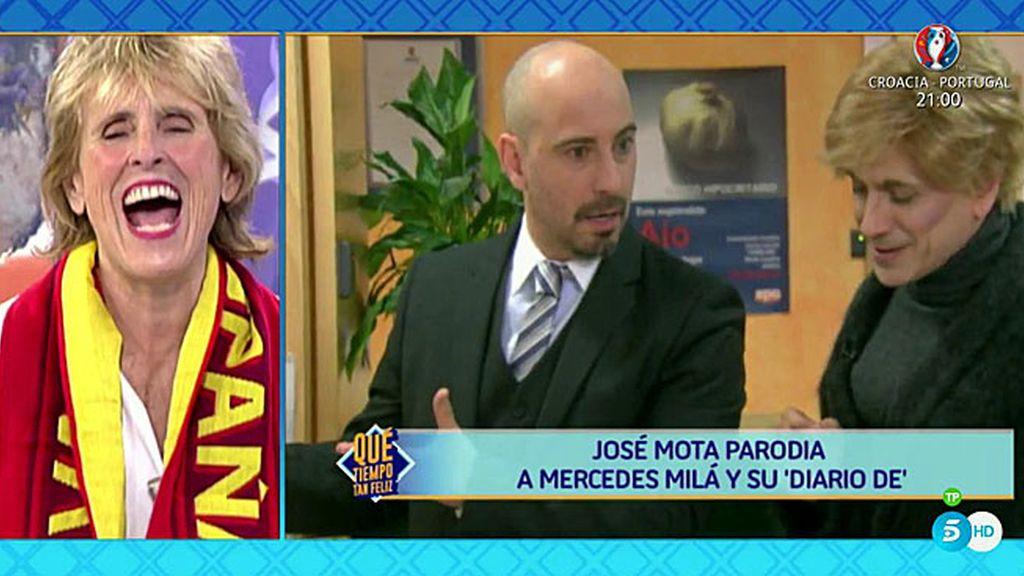 Mercedes Milá se parte de risa recordando la parodia que José Mota hizo sobre ella