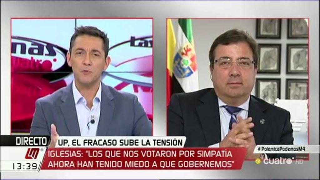 La entrevista de Fernández Vara, a la carta
