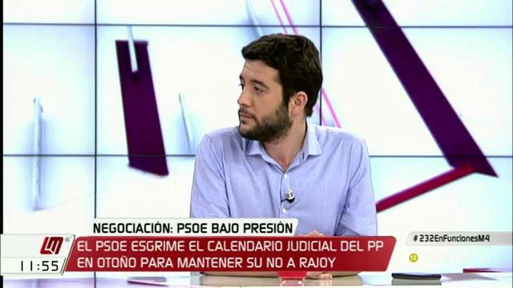 """C. Zafra: """"No vamos a hacer como el PSOE, encerrarnos en casa y decir no a todo"""""""